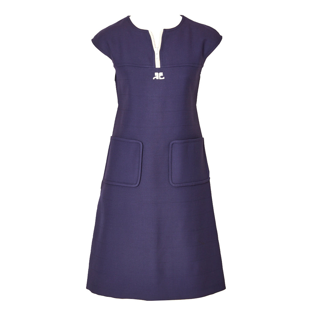 Courrèges  Iconic Wool Day Dress