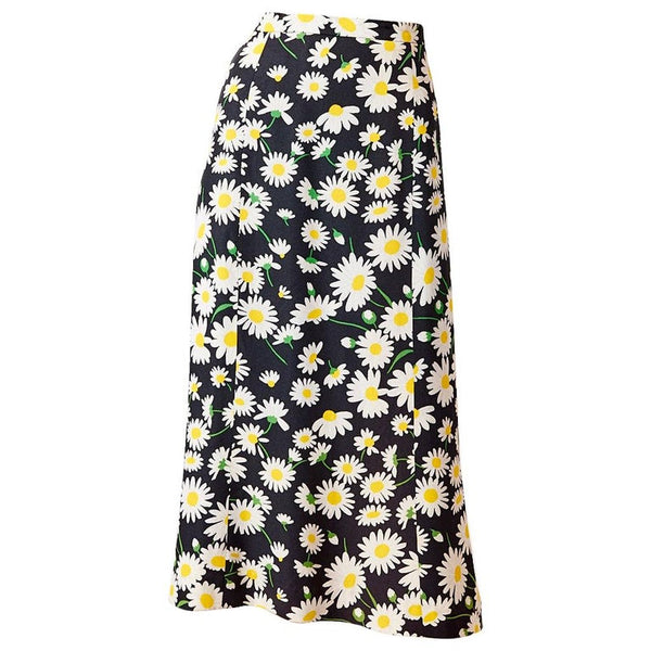 Yves Saint Laurent Rive Gauche Iconic Daisy Pattern Skirt
