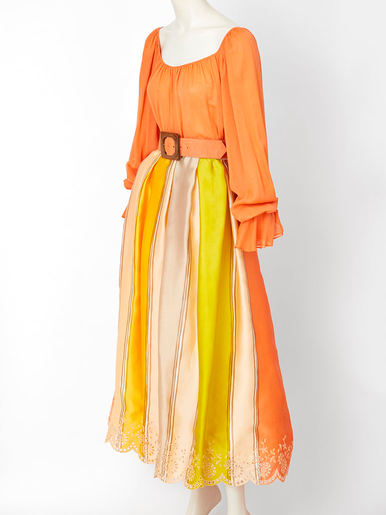 Oscar de la Renta Chiffon and Organza Gypsy Ensemble