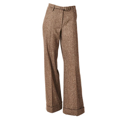 Oscar de la Renta Wide Leg Tweed Trouser