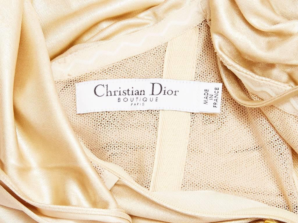 Christian Dior Draped Cocktail Dress