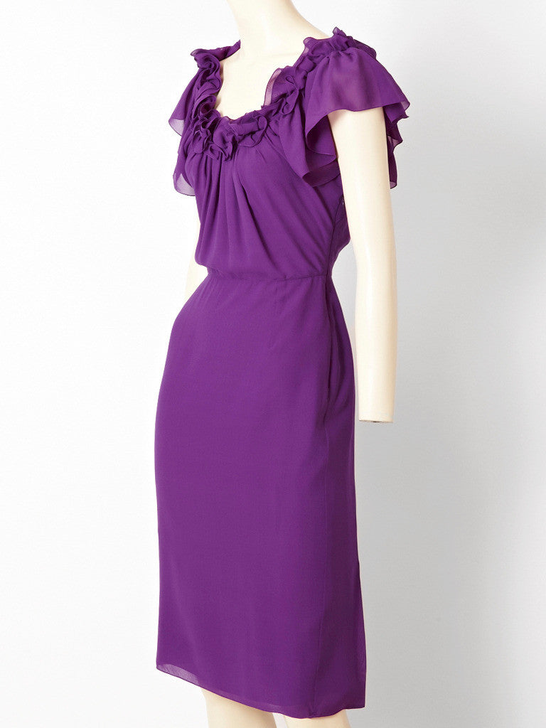 John Galliano for Dior Silk Crepe Dress