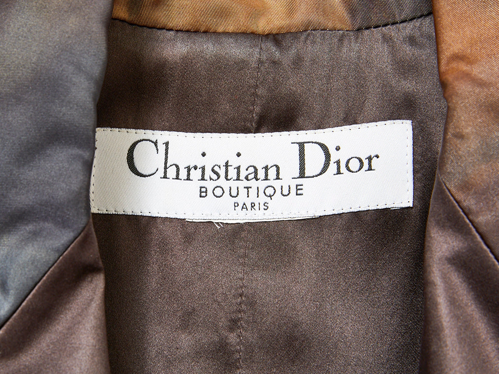 John Galliano for Dior Silk Ombred Coat