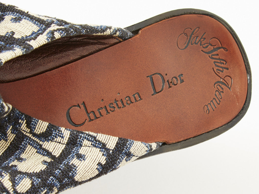 Dior Logo Wedged Mules