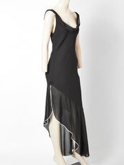 Galliano for Dior Bias Cut Dress with Asymmetric Hem