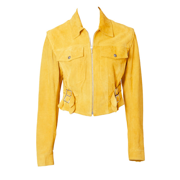 John Galliano for Dior Suede Motorcycle Jacket