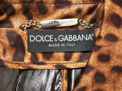 Dolce and Gabbana Leopard Trench