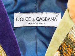 Dolce and Gabbana Velvet Patchwork Jacket