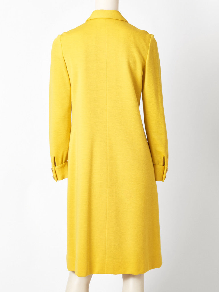 Norell Wool Knit Shift Dress
