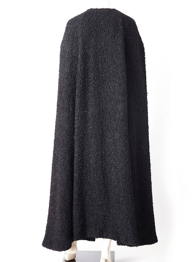 Fendi Dramatic Wool Boucle Cape