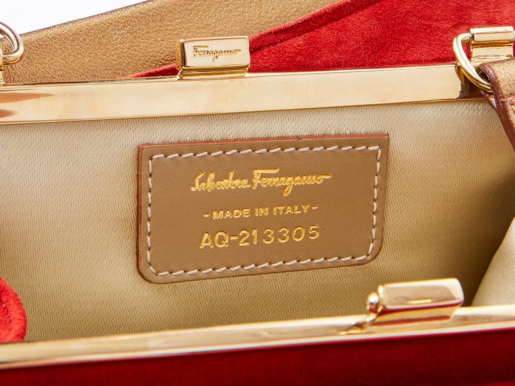 Ferragamo Suede Shoe Bag