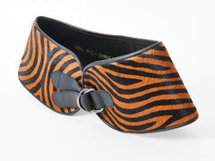 Yves Saint Laurent Stenciled Animal Print Hairskin Belt