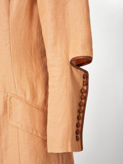 Gianfranco Ferre Victorian Inspired Linen Duster and Pant Ensemble