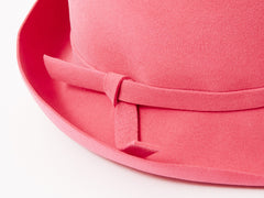 Hot Pink Wool Felt Fedora