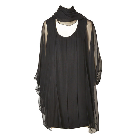 Galanos Chiffon Evening Dress and Coat Ensemble