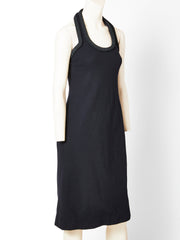 Galanos Halter Neck Cocktail Dress with Braiding Detail