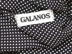 Galanos Layered Chiffon Dress With Smocking Detail