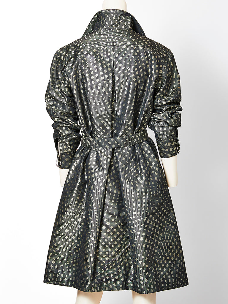 Galanos Belted Shirtwaist Dress