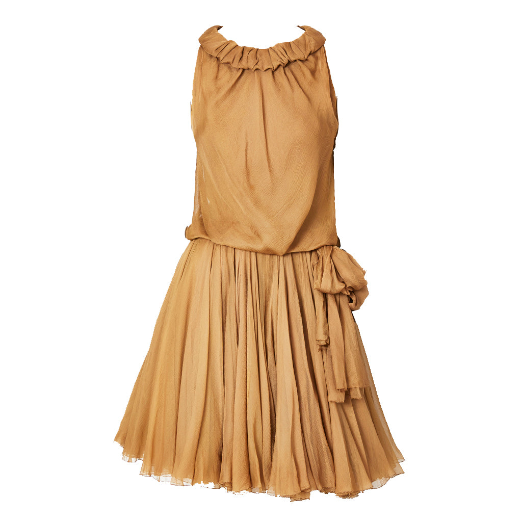Galanos Multi layered  Chiffon Cocktail Dress