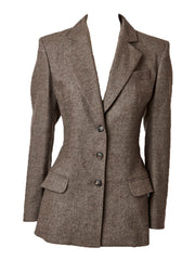 John Galliano Fitted Blazer with Bustle Back