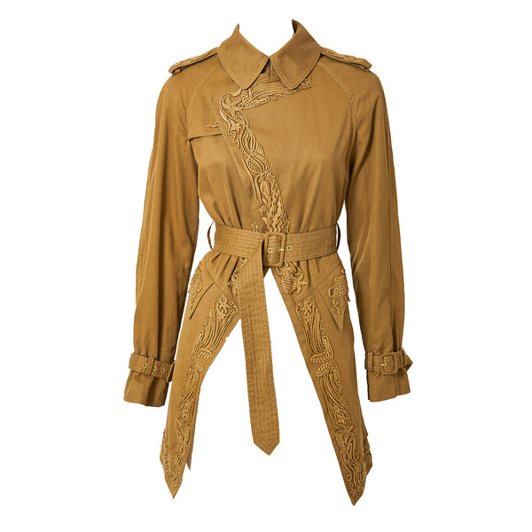 Jean Paul Gaultier Embroidered Trench