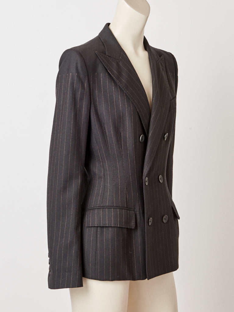 Jean Paul Gaultier Pin Striped Fitted Blazer