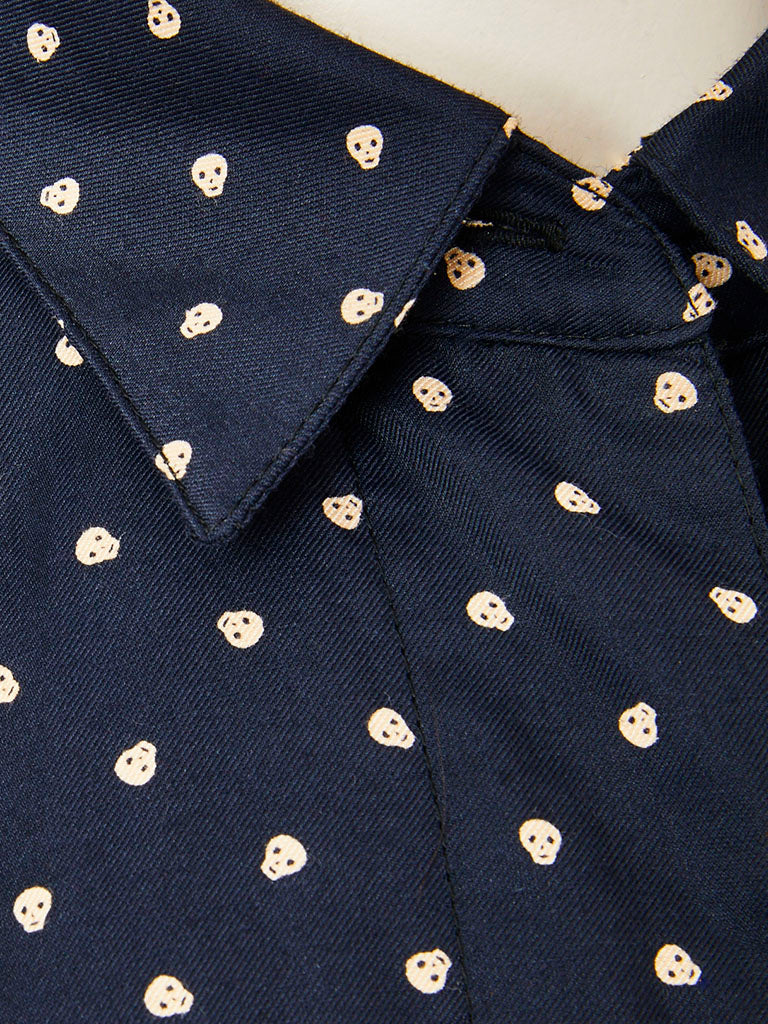 Jean Paul Gaultier Skull Pattern Fitted Jacket