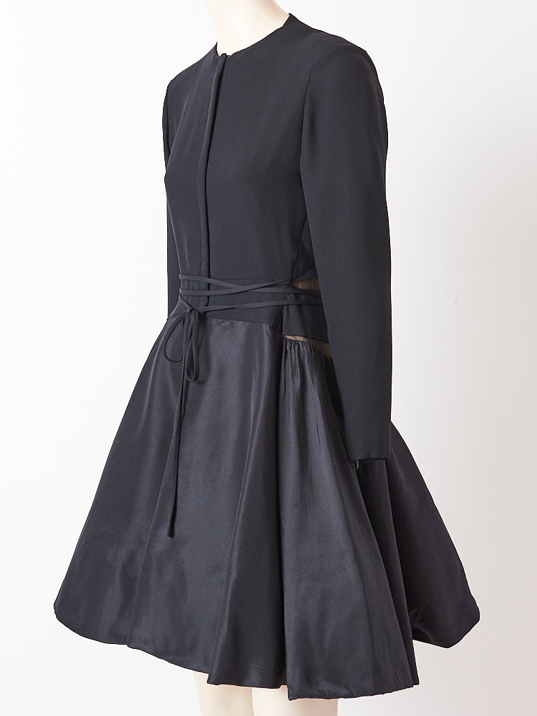Geoffrey Beene Cocktail Dress With Illusion Detail