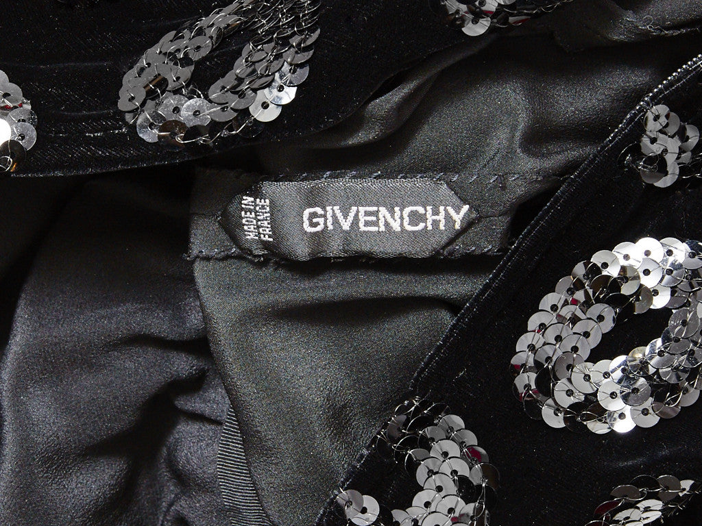 Givenchy Couture Velvet and Sequined Dress