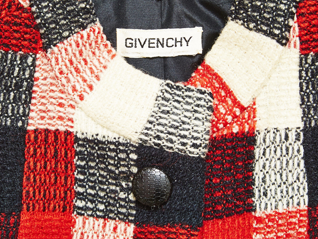 Givenchy Couture Red and Black Buffalo Plaid two Piece Suit