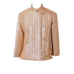 Givenchy Gold Lamé Quilted Evening Jacket