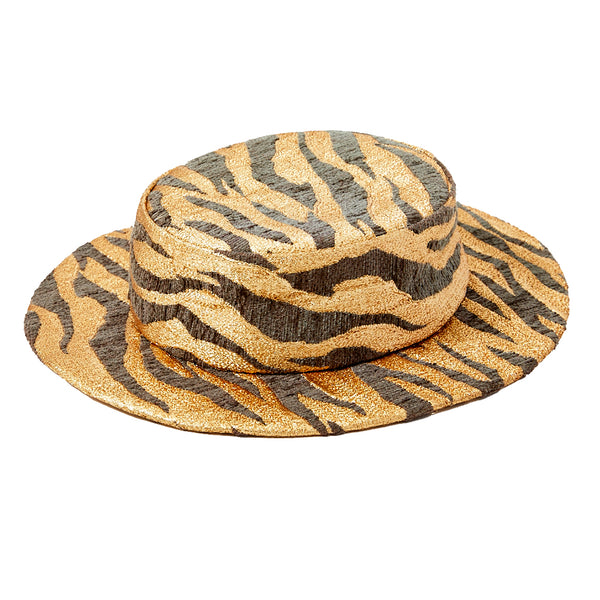 Givenchy Animal Pattern Boater Hat