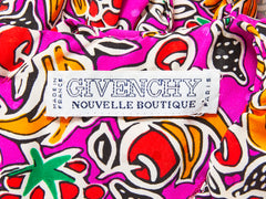 Givenchy Boutique Tropical Fruit Pattern Dress