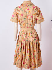Gucci Iconic Butterfly Pattern Cotton Shirt Waist Dress
