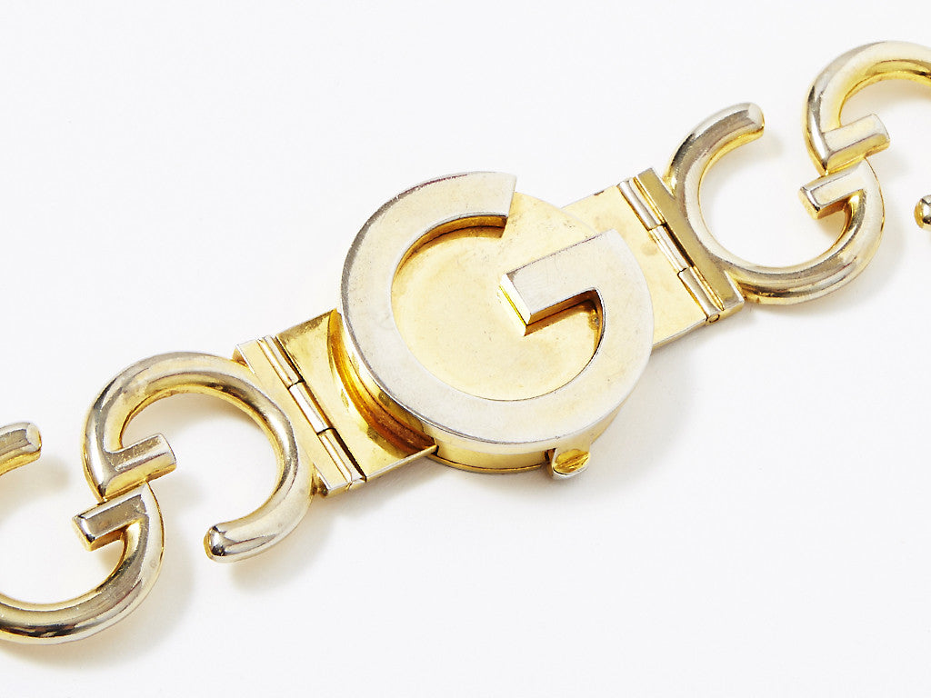 Gucci Gold Metal Belt with Signature GG Logo