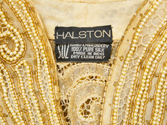 Halston Gold Beaded  Evening Jacket and Tank