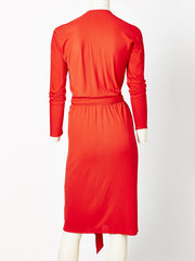 Halston Jersey Wrap Dress