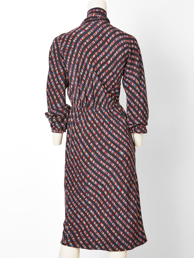 Halston Silk Wrap Dress