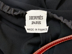 Hermes LBD with Leather Harness Detail