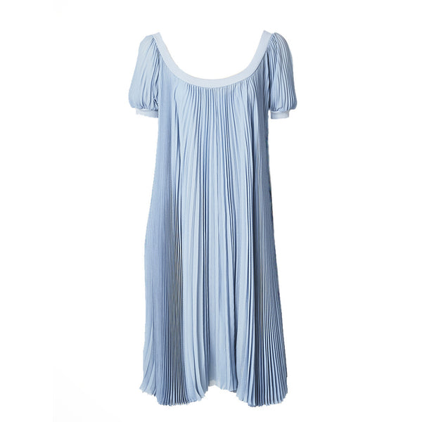 Hermes Pleated Smock Dress