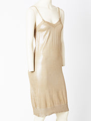 Hermes Gold Knit Slip Dress