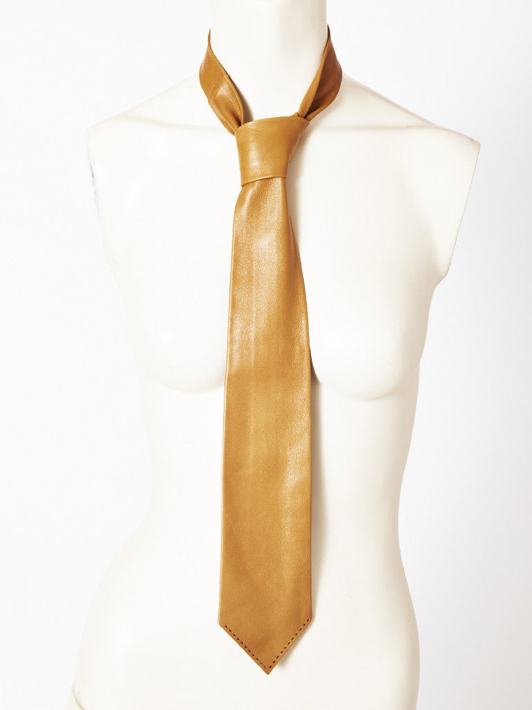 Hermes Leather Tie
