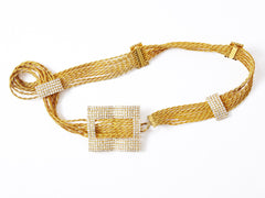 Kenneth Jay Lane Gold and Rhinestone Belt