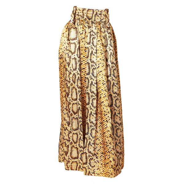 Reptile Print Hostess Skirt C.1970's