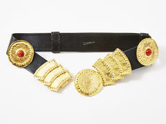 "Alexis Kirk Adjustable ""Medallion"" Belt"