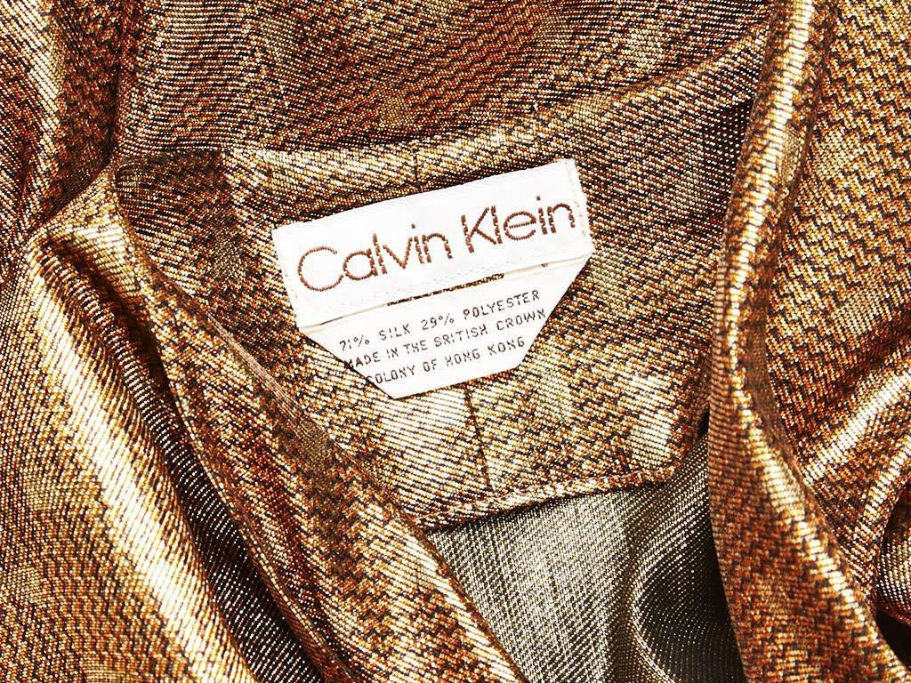 Calvin Klein Copper Lame Three Piece Ensemble