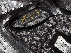 Koos Van Den Akker Sequined and Knit Dress