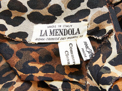 La Mendola Georgette Leopard Print Day Dress