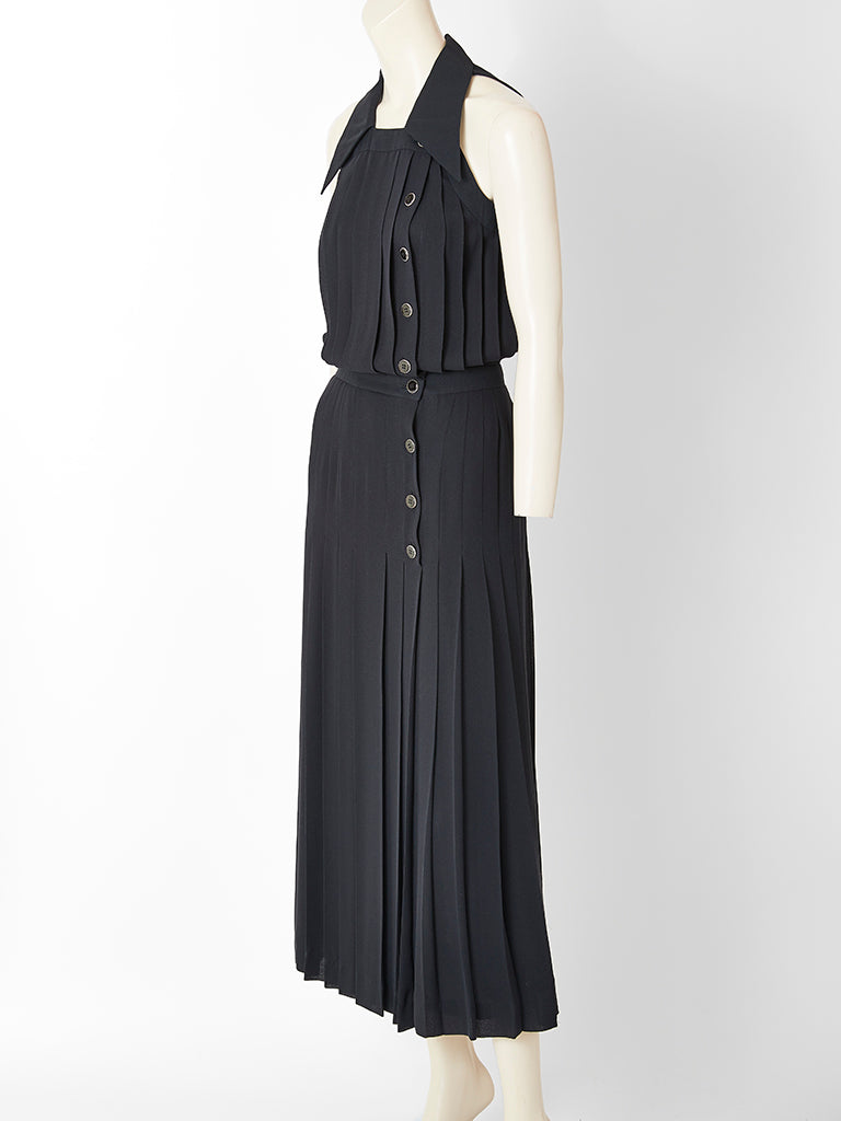 Karl Lagerfeld Pleated Maxi Dress