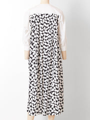Guy Laroche Graphic Floral Pattern Day Dress